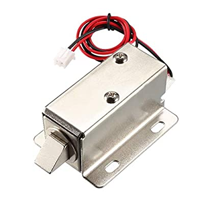 uxcell DC 6V 1.5A 11.4mm Electromagnetic Solenoid Lock Assembly for Electirc Lock Cabinet Door Lock