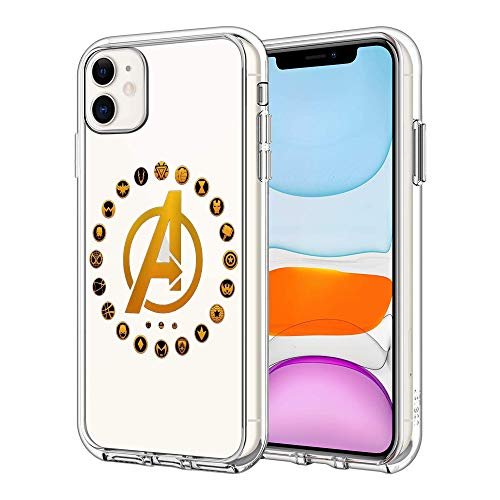 Phone Case for iPhone 11, Clear Case Explosion-Proof Plastic Basic Case (Avengers)