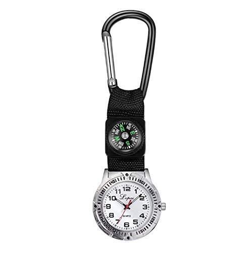 ARMAC Reloj de bolsillo de enfermera, reloj de cuarzo, brújula enriquecida reloj de pulsera de cuidado de la salud broche reloj