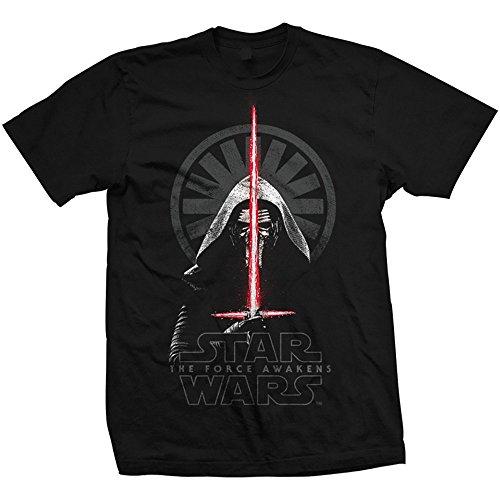 Star Wars Episode VII Kylo REN Shadows Camiseta, Negro, X-Large para Hombre