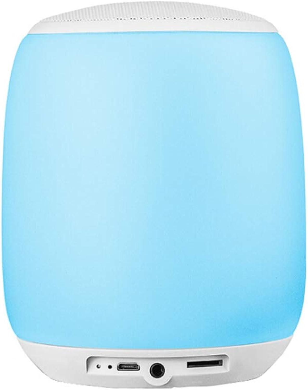 TLgf Nachttischlampe Smart tragbare Blautooth Bunte Musik-Tischlampe mit Blautooth-Lautsprecher Outdoor-Lautsprecher-Tischlampe besondere Geschenke
