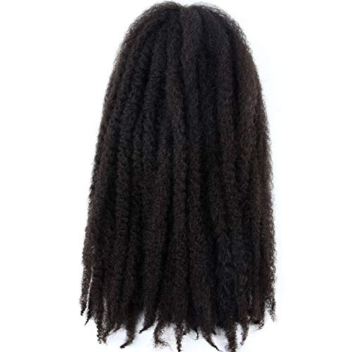 Marley Hair 4 Packs Afro Kinky Curly Crochet Hair 18 Inch Long Marley Twist Braiding Hair Kanekalon Synthetic Marley Braids Hair Extensions for Women #2