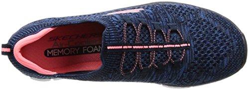 Skechers Empire-Sharp Thinking, Women Sneakers, Blue (Navy/Pink), 37 EU (4 UK)