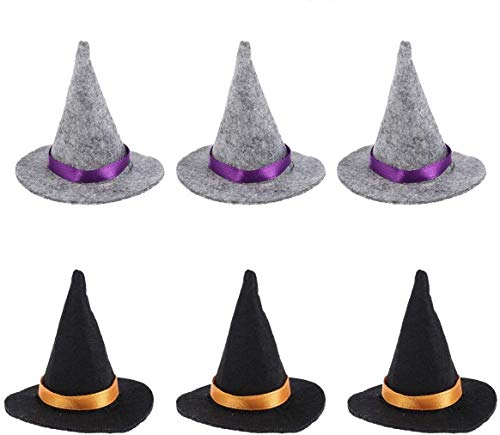 Lowest Price! 10pcs Halloween Mini Witch Hats Wine Bottle Toppers Wine Bottle Caps Party Table Decor...