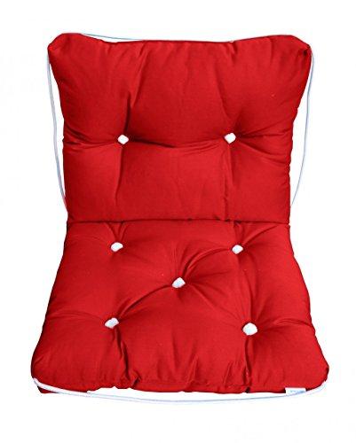 Navyline Doppel-Kissen mit Kapokfüllung und Baumwollbezug ca. 82x36cm, Farbe:rot