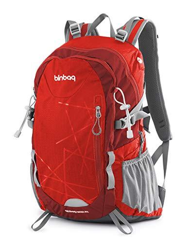 Hauptstadtkoffer blnbag S1-Leichter Wanderrucksack, Sportrucksack mit Regenschutz, FahrradrucksackTagesrucksack für Camping,Rucksack mit Hüftgurt, Unisex 20 Liter, Magma Red