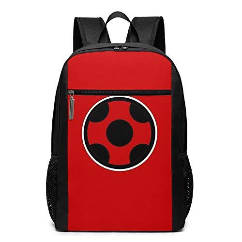 Bolsa de viaje para portátil Bapa de 17 pulgadas Mir-ACU-Lous La-Dy-Bug para colegio, colegio, bolsa de ordenador casual Daypa para mujeres y hombres