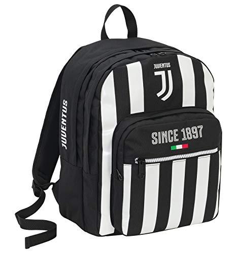Sac à Dos Compartiment Double Juventus Coaches, 34 Lt, Blanc et Noir, École & Loisirs