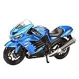 MHDTN El Maquetas Coche Motocross Fantastico 1︰18 para Kawasaki-ZX-14R Ninja Sport Static Die Cast Vehículos Coleccionables Pasatiempos Motocicleta Expresión De Amor