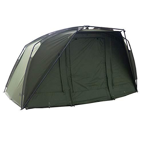 Sonik Karpfenzelt 1 Mann AXS Bivvy - Angelzelt 1 Person mit Bodenplane - Zelt Karpfenangeln mit Insektenschutz - Angelzelte für das Angeln