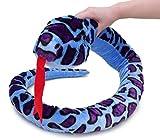 Serpiente felpa gigante - 180cm - Juguetes blandos para niños (BLUE&PURPLE)