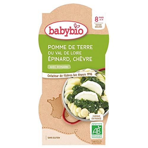Babybio Petit Bol Légumes Trio de Pomme de Terre du Val de Loire Epinard Chèvre 8+ Mois 400 g