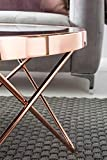 FineBuy Couchtisch FB45659 Glas ø 82 cm Metall Wohnzimmertisch Modern   Glastisch Rund Sofatisch Wohnzimmer Schwarz   Moderner Coffee Table mit Glasplatte   Kleiner Runder Design Kaffeetisch - 8