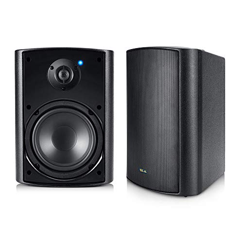 """Outdoor Bluetooth Speakers, 5.25"""" Bluetooth Weatherproof Speakers for Deck Patio Backyard, Pair (Black)"""