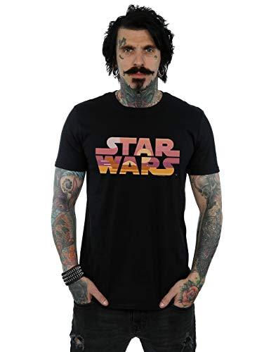 Star Wars Homme Tatooine Suns Logo T-Shirt Noir XXX-Large