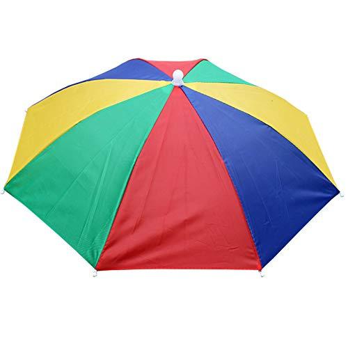 yamysalad Paraplu Hoed Pet Voor Golf Vissen Camping, Paraplu Pet Handen Gratis Hoofddeksel, Paraplu Hoed 55cm Diameter