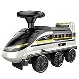 PGZLL Coche De DeformacióN De Tren De Alta Velocidad De SimulacióN para NiñOs, Coche De Taxi EléCtrico Montable, Juguete De Aventura
