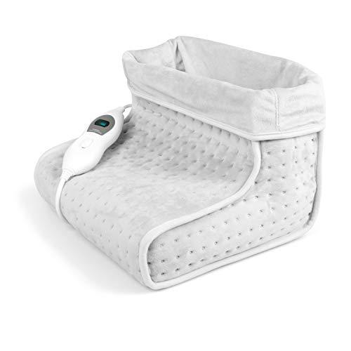 Preisvergleich Produktbild VIDABELLE VD-4619 Vidabelle Fußwärmer in hell grau,  elektrischer Fußwärmer mit 3 Temperaturstufen,  Wärmeschuh mit Abschaltautomatik,  Füße aufwärmen,  waschbar bei 30C