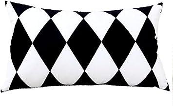 50cm Coussins g/éom/étriques double-face doreiller de sofa noir et blanc 30 Couleur : # 1 coussins lombaires doreiller de bureau