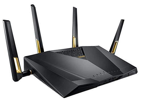 ASUS RT-AX88U Routeur Gaming Wi-Fi 6 Ai Mesh / AX 6000 Mbps Double Bande OFDMA et MU-MIMO avec Aura Sync, Sécurité AiProtection Pro à Vie par TrendMicro