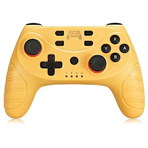 FAMKIT Kabelloser Controller für Nintendo Switch, kabelloser Pro Controller für Nintendo Switch, Nintendo Switch Pro Controller, Zubehör mit Turbo-Funktion, Dual-Analog-Sticks