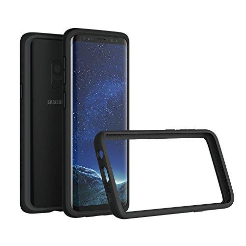 RhinoShield Coque Bumper Compatible avec Samsung [Galaxy S9] | CrashGuard - Housse Fine avec Technologie Absorption des Chocs - [Résiste aux Chutes de Plus de 3,5 mètres] - Noir