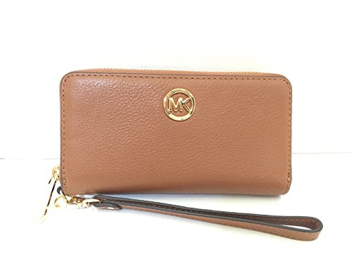 Price comparison product image Michael Kors Pebbled Leather Large Coin Multifunction Phone Iphone Case & Wristlet Luggage