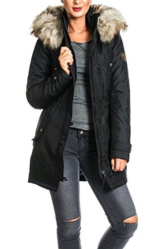 ONLY Damen Jacke Onliris Parka Otw, Schwarz (Black), 34 (Herstellergröße: XS)