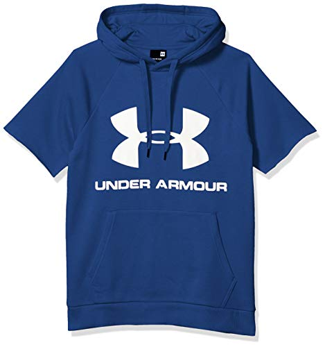 Under Armour Men's Rival Fleece Logo Short Sleeve Pullover Hoodie