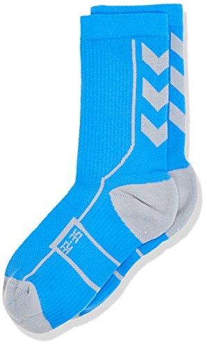 Hummel Kinder TECH Indoor Sock Low, Palace Blue/Microchip, 8/32-35