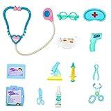 Doctor Juguete Kit Niños Fingir Pretenda Doctor Enfermera Juguetes Plástico Azul Play Juego Juego Conjunto Regalos Jeringa Sistosporte Vidrios 13pcs