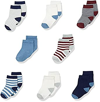 Touched by Nature Baby Organic Cotton Socks Burgundy Navy 0-6 Months