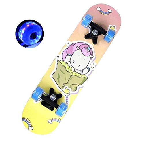 YANG Complete Skateboard Mini Cruiser 23 Inch Small Snail Picture of Children Skateboard