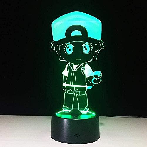 Luz de noche LED 3D, decoración de ilusión, tipo de lámpara, policía, niños, exterior, colorida, feria visual, cumpleaños, Navidad para niños