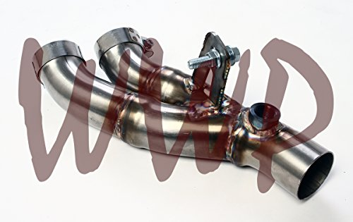SS409 Stainless Steel Exhaust Muffler Box Eliminator Test Y-Pipe Kit System For 06-16 Yamaha YZF R6 Bike Motorcyle