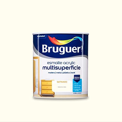 Bruguer Acrylic Multisuperficie Esmalte al agua Satinado Blanco Roto 750 ml
