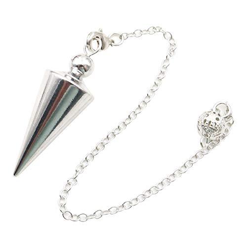 POHOVE Pendule en métal cuivre - Pendule spirituel pour la divination, la guérison, la radiesthésie, l'équilibrage wicca - Pendule conique long - Pendule en cuivre