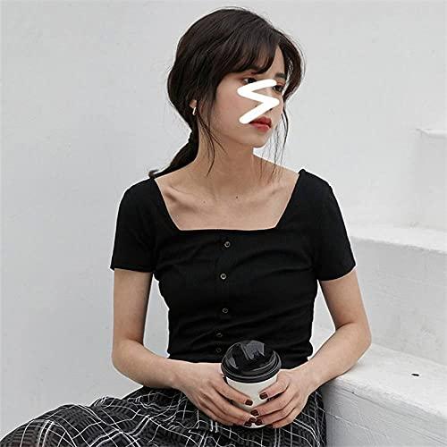 Camisetas De Impresión 3D - Camiseta De Punto Con Cuello Oblicuo Para Mujer, Suéter De Algodón Acanalado Sexy, Camiseta Básica Para Mujer, Tops, Camiseta Informal De Verano, Camisa Delgada