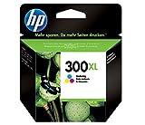 HP 300XL CC644EE, Cartucho de Tinta Original de alto rendimiento,Tricolor, Compatible con impresoras de inyección de tinta HP DeskJet D2560, D2660, F4280, F4224, F4283; Photosmart Serie C