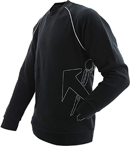 JOB Dachdecker Sweatshirt Sweat Hoodie schwarz mit Logo Emblem Reflexe (XL)
