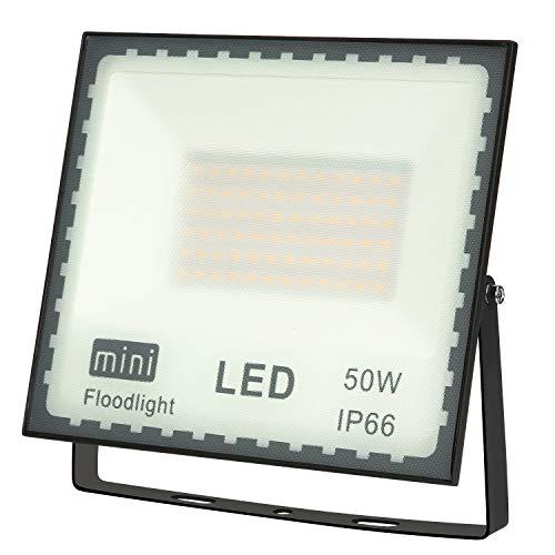 Faretto LED Esterno 50W Faretti LED con SMD2835 4000LM LED Chips IP66Impermeabile Faro LED Proiettore Multiuso per Decorazione di Illuminazione in Casa Giardino
