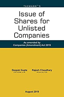 Issue of Shares for Unlisted Companies-As amended by Companies (Amendment) Act 2019 (August 2019 Edition)
