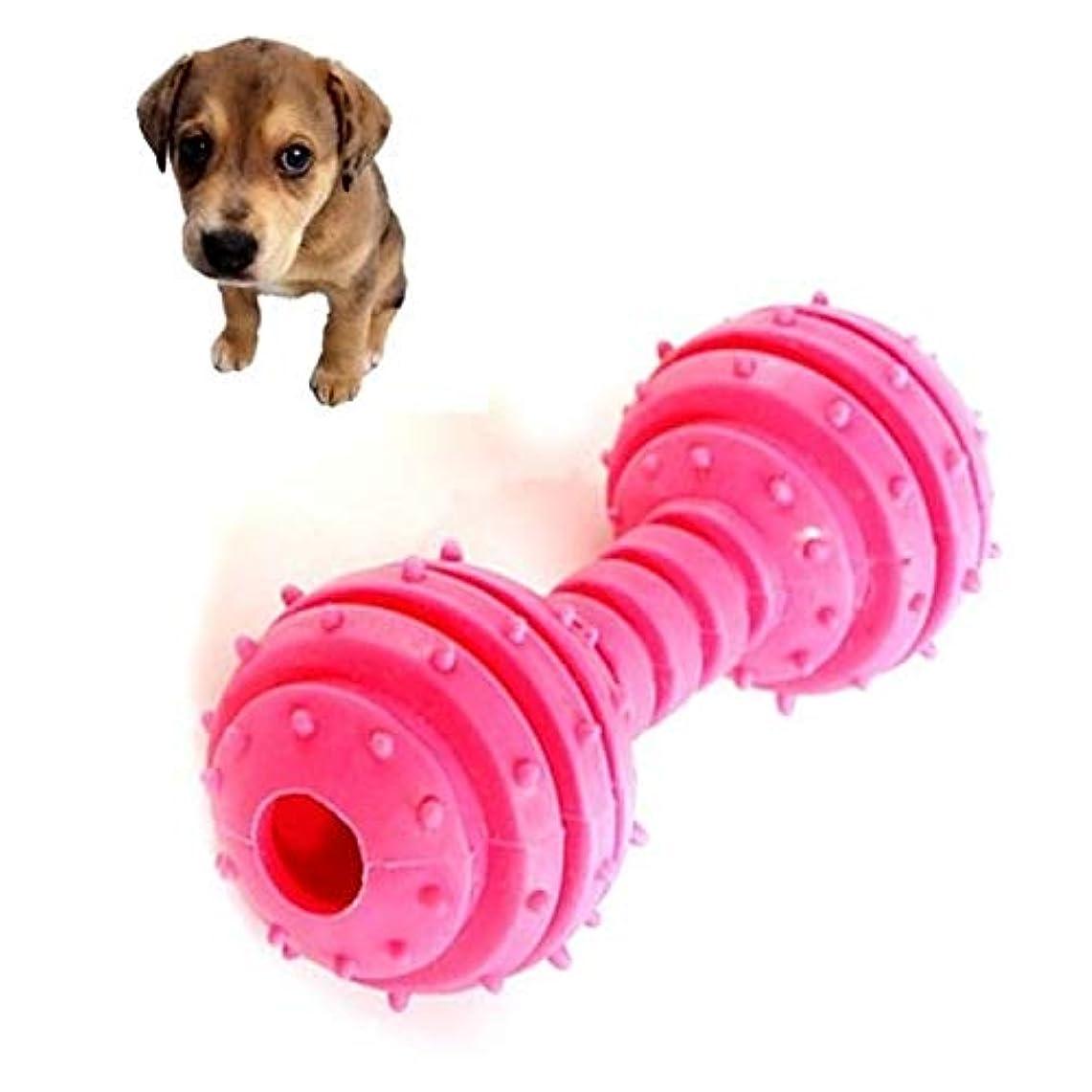 別れる甘味否定するLiye ペットTPR一口耐性ダンベルモルおもちゃおもちゃ安全な非毒性(イエロー) (色 : Red)