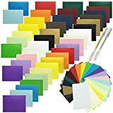JOLLY SWEETS 100 Set 20 Rainbow Color 5x7 Envelopes, A7 Self Adhesive Envelopes with Colored Blank Cardstock Flat Note Cards DIY Card Greeting Card, Supplies for Wedding Thanksgiving, Valentine's Day