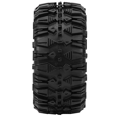 Neumático de Goma RC, Agarre Fuerte Rueda de Goma RC con 4 neumáticos de Goma RC para SCX10 TRX4 TRX6 D90 1/10 Coche con Control Remoto y Otras Ruedas de 2.2 Pulgadas