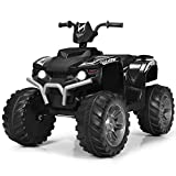 Costzon Ride on ATV, 12V Battery Powered Electric Vehicle w/ LED Lights, High...