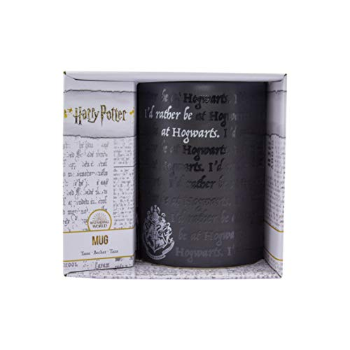 Paladone I Would Rather Be at Hogwarts Memorabilia Perfect for Harry Potter Fans | Tea Coffee Drinking Mug 325ml (11floz) Capacity, Stoneware, 325 milliliters