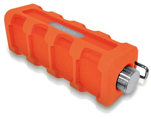 Pyle Jam Tunes Box spritzwassergeschützt Bluetooth und Freisprech Lautsprecher mit AUX-IN, Orange, PWPBT15OR