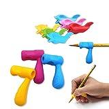 Firesara - Maniglie ergonomiche in silicone per matite, per la cura degli artigli, per bambini, studenti, asilo, adulti, destrorsi (9 pezzi)