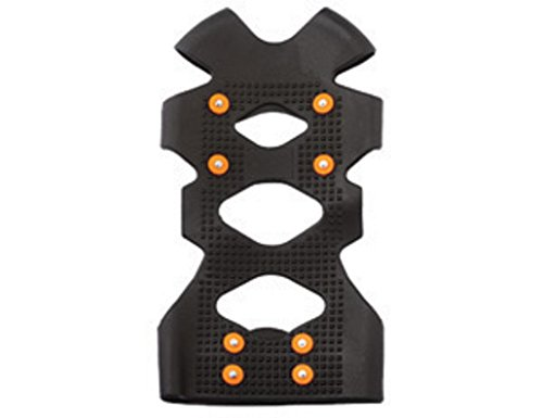 Ergodyne Large TREX 6300 Black Stretchable Rubber One Piece Ice Traction Device With Carbon Steel Studs For Boots And Shoes Size 8 To 11